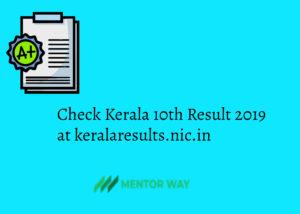Check Kerala 10th Result 2019 at keralaresults.nic.in