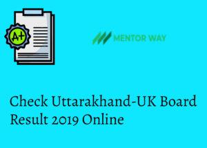 Check Uttarakhand-UK Board Result 2019 Online