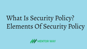 What Is Security Policy? Elements Of Security Policy