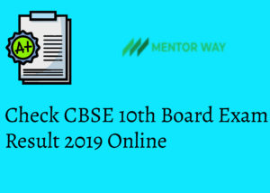 Check CBSE 10th Board Exam Result 2019 Online