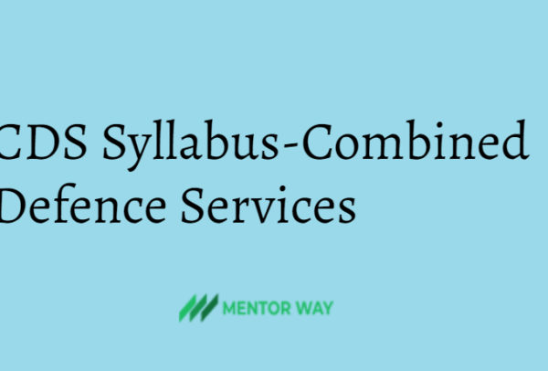 CDS Syllabus-Combined Defence Services