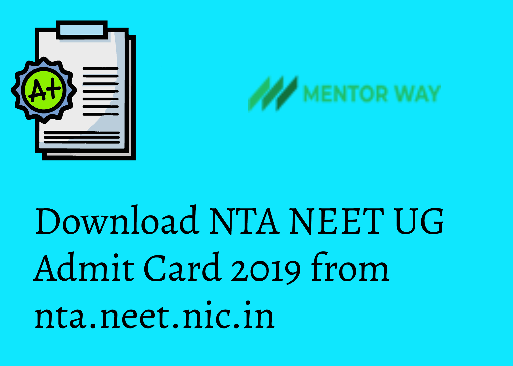 Download NTA NEET UG Admit Card 2019 from nta.neet.nic.in