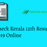 Check Kerala 12th Result 2019 Online