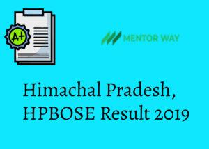 Himachal Pradesh, HPBOSE Result 2019